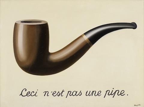 La Trahison des images (Ceci n'est pas une pipe). 1929. René Magritte.