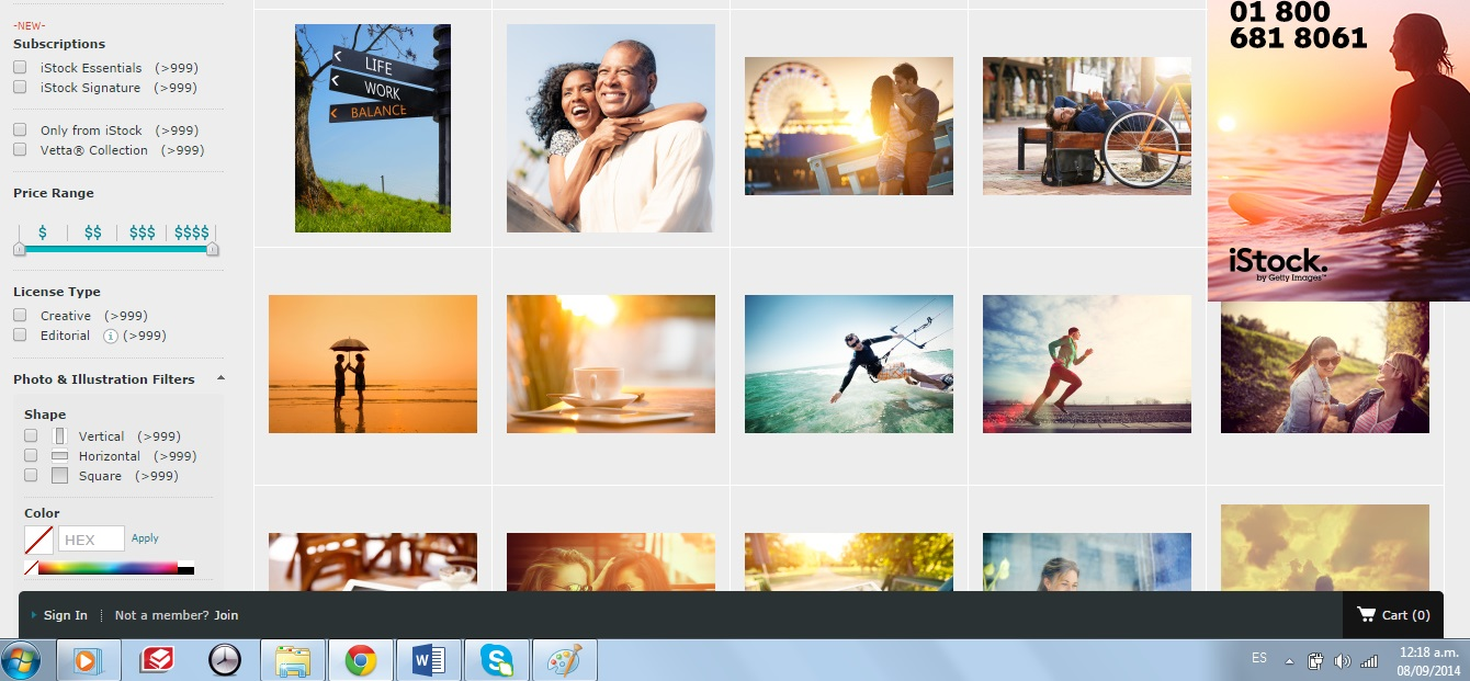 iStock page