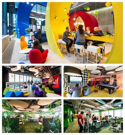 12 oficinas tan creativas en las que morir as por trabajar for Oficinas pixar