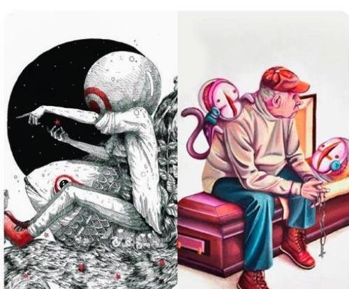 Ilustraciones de Hetwor one y Done bbc