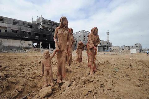 palestinian-artist-gaza-clay-sculptures-displacement-destruction-designboom-011