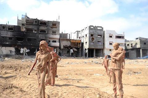 palestinian-artist-gaza-clay-sculptures-displacement-destruction-designboom-021