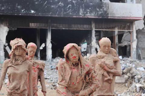palestinian-artist-gaza-clay-sculptures-displacement-destruction-designboom-051
