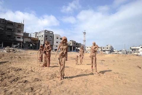 palestinian-artist-gaza-clay-sculptures-displacement-destruction-designboom-061