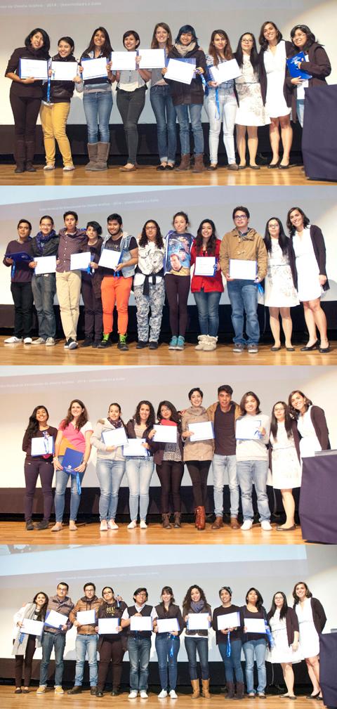 Equipos ganadores junto a las representantes de la  Organización Internacional para las Migraciones.