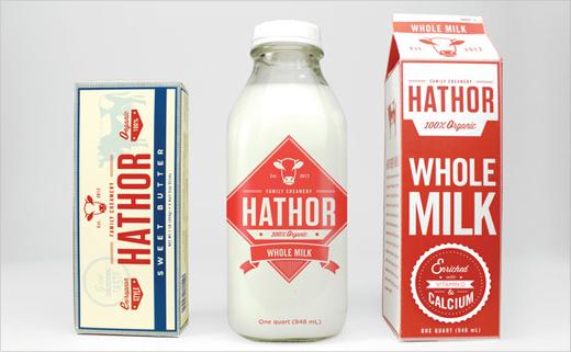 Hathor-Creamery-dairy-milk-organic-farm-produce-logo-design-branding-identity-graphics-vintage-retro