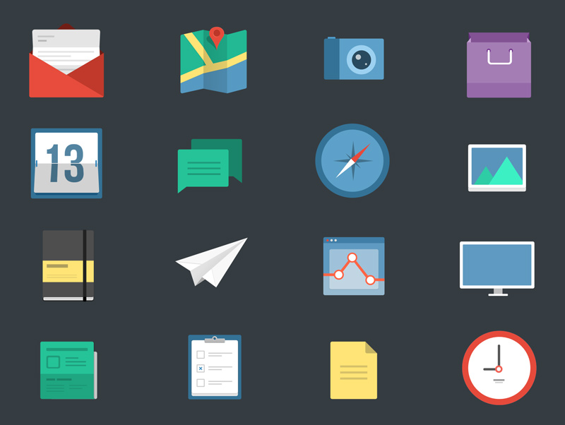 16-Flat-Icons