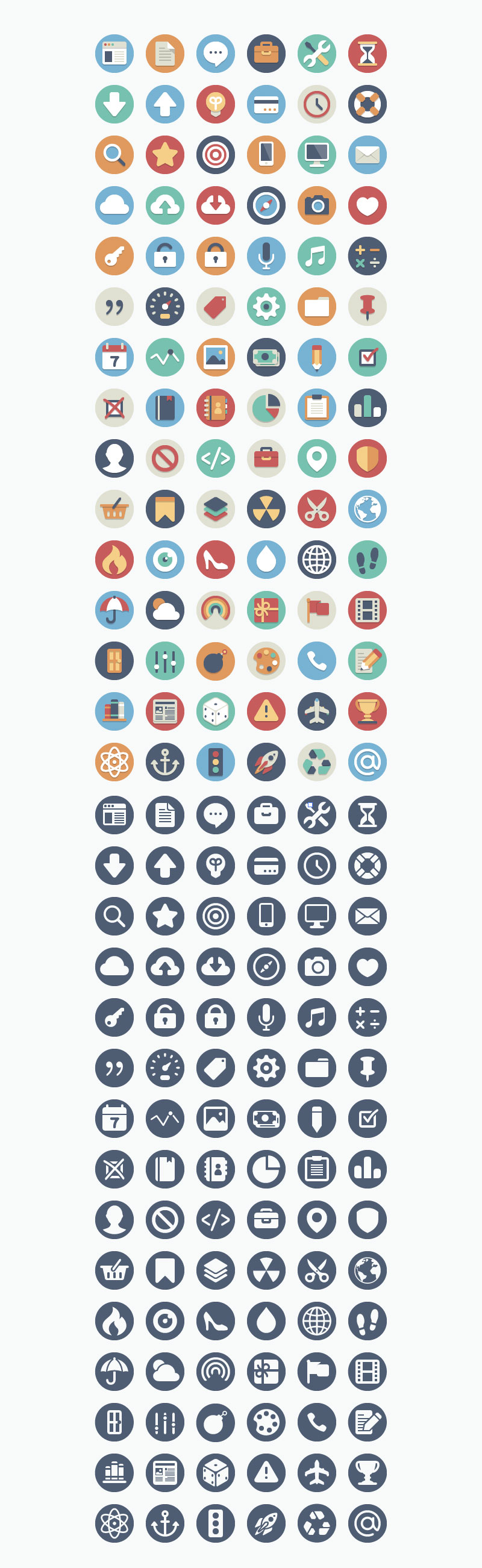 180-Free-Beautiful-Flat-Icons