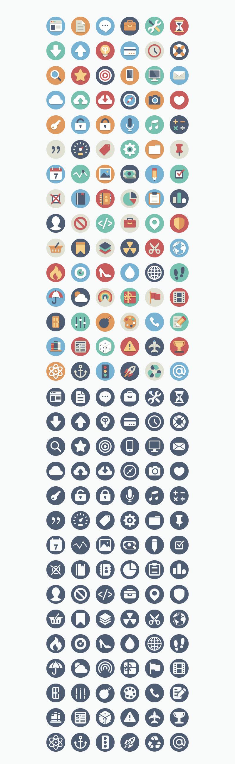 180-Free-Beautiful-Flat-Icons