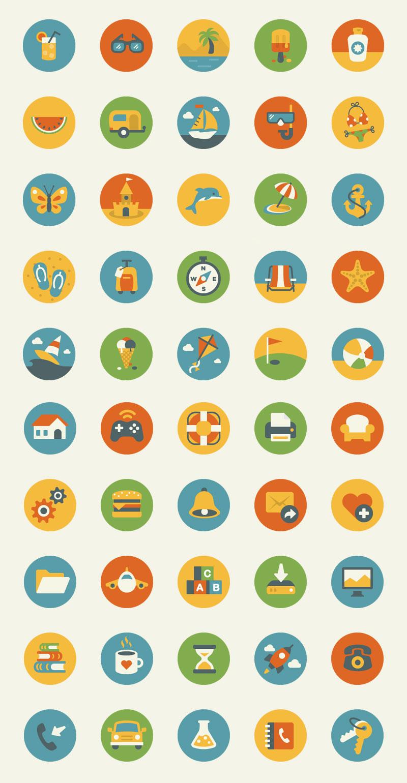 50-Flat-Design-Icons