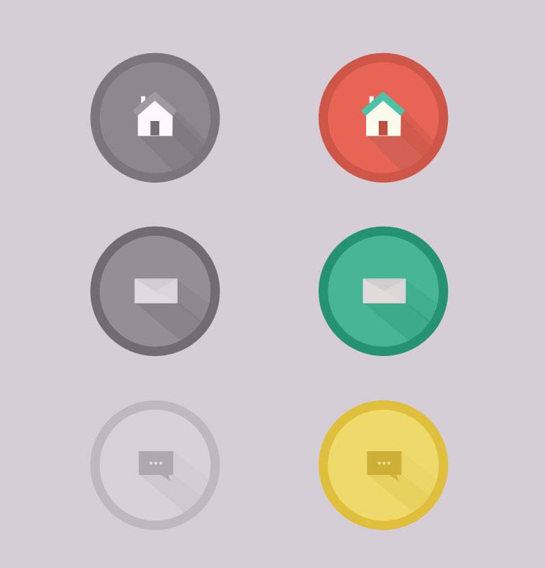 Free-Flat-Long-Shadow-Icons