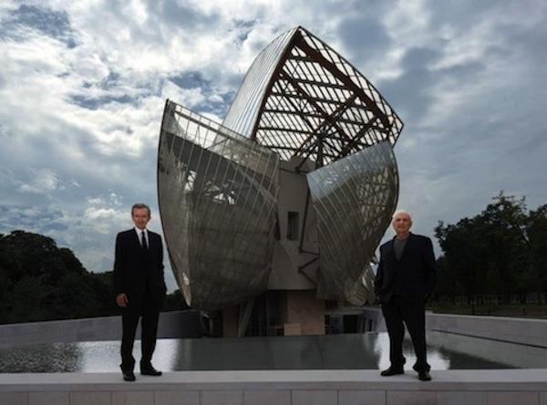 Bernard Arnault y el arquitecto Frank Gehery.