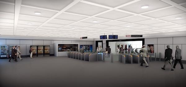 Ticket Concourse, Resin Floor