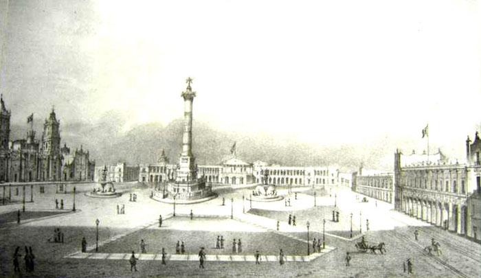 El proyecto del monumento a la Independencia que pretendió inaugurar Antonio López de Santa Anna.