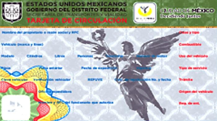 tarjeta circulación df