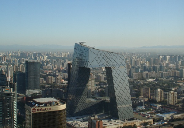 CCTV Building, en Beijín de Rem Koolhaas.