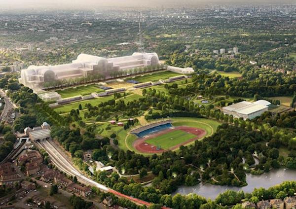 Posible vista de cómo será el nuevo Crystal Palace