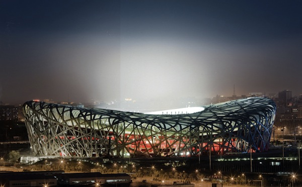 Foto estadio olímpico en Beijing.