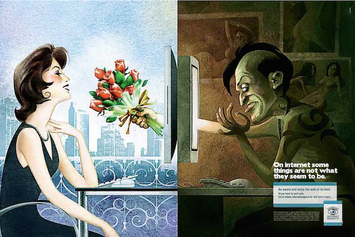 CAMPAÁ SOCIAL On internet, something are not what they seem