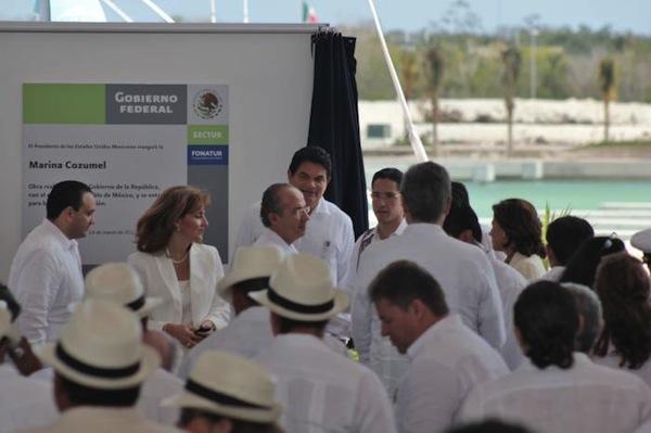 Inauguración de la Marina Cozumel.