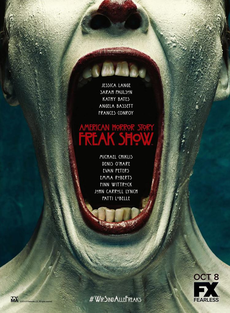 POSTER American Horror Story 4- Freakshow Director- Ryan Murphy Designed by Kyle Cooper for Prologue Films