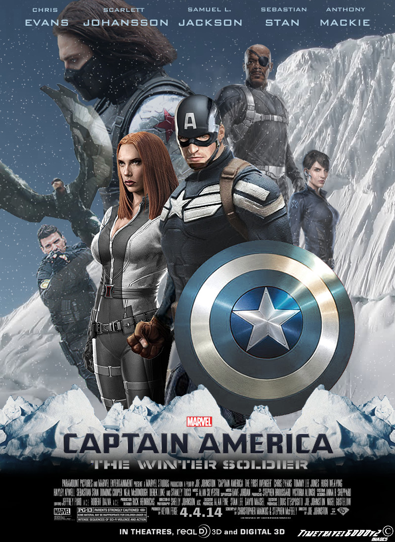 POSTER Captain America- The Winter Soldier Directors- Anthony Russo & Joe Russo Designed by Erin Sarofsky & David Mack for Sarofsky