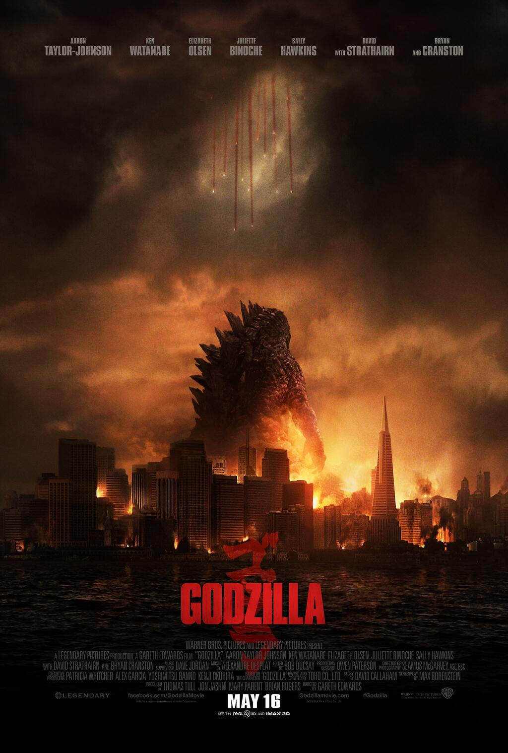 POSTER Godzilla Director- Gareth Edwards Designed by Kyle Cooper for Prologue Films