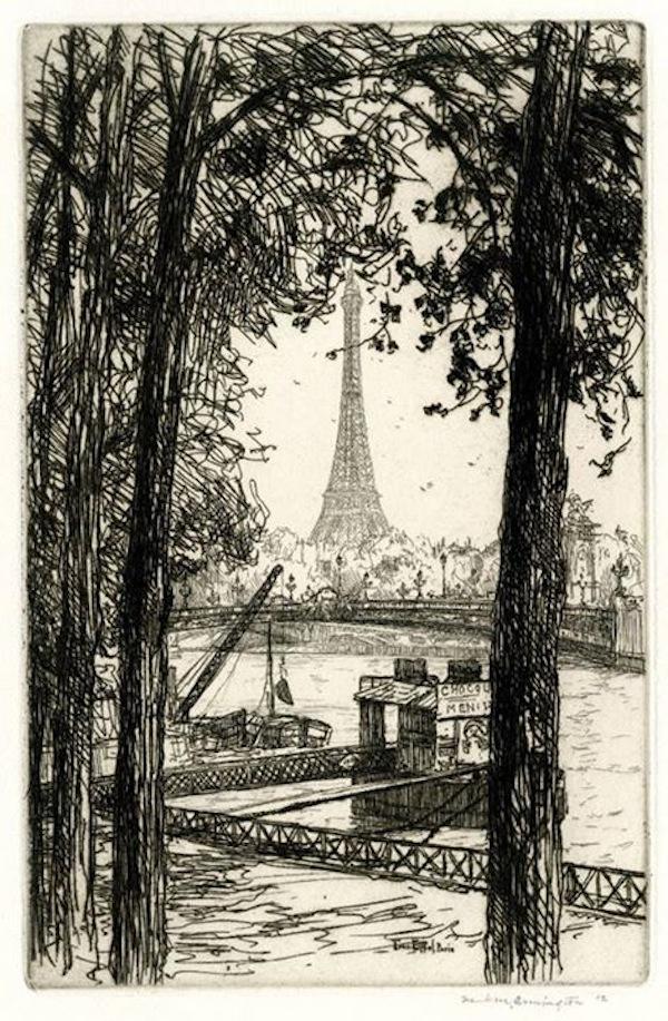 La Torre Eiffel, París, 1912