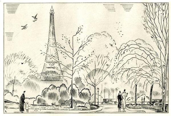 Printemps au Trocadéro, 1917