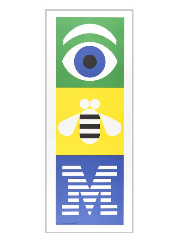 """Cartel creado por Paul Rand, """"Eye, Bee, M de 1992 para IBM."""