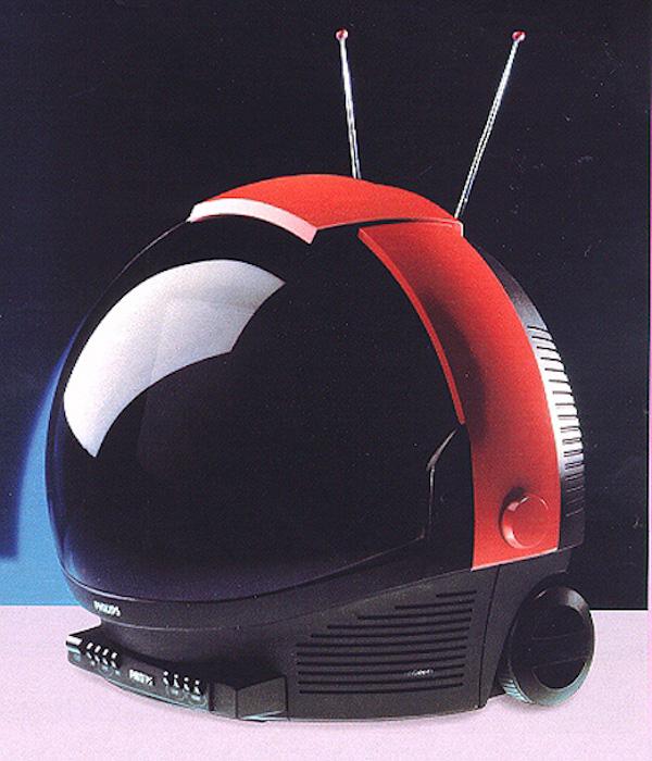 Una televisión portátil de Philips durante 1991.