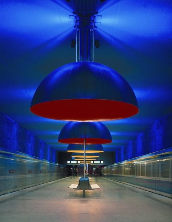 Concepto de iluminación para el metro de Múnich en 1998.