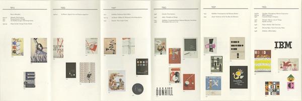 Un folleto de la Retrospectiva a Paul Rand, diseñador y tipógrafo. Fue autor del logotipo de Enron y de EF.