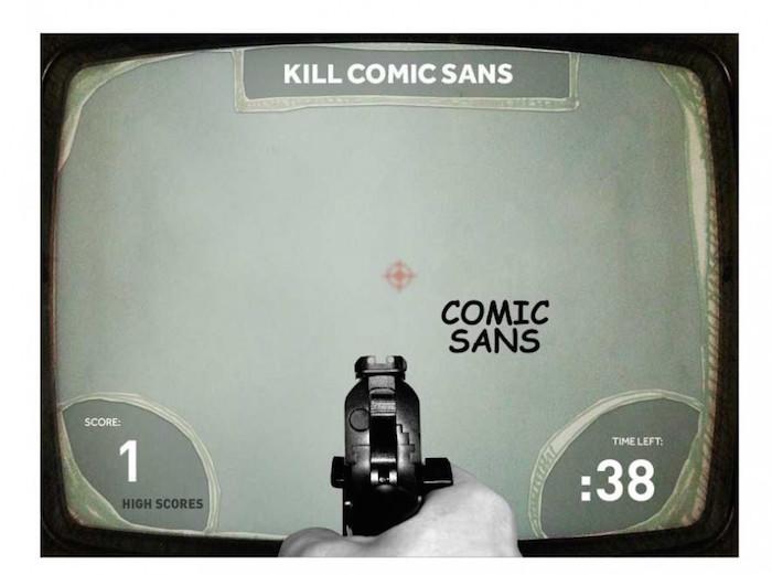 juegos 02 Kill Comic Sans