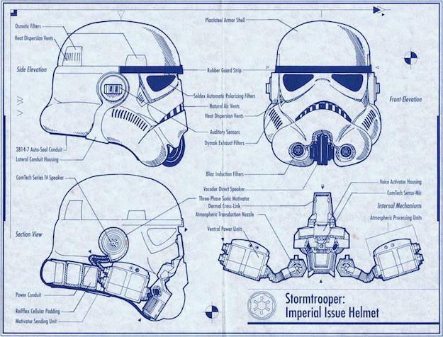 Los Planos De Todas Las Creaciones De Star Wars En Un Solo