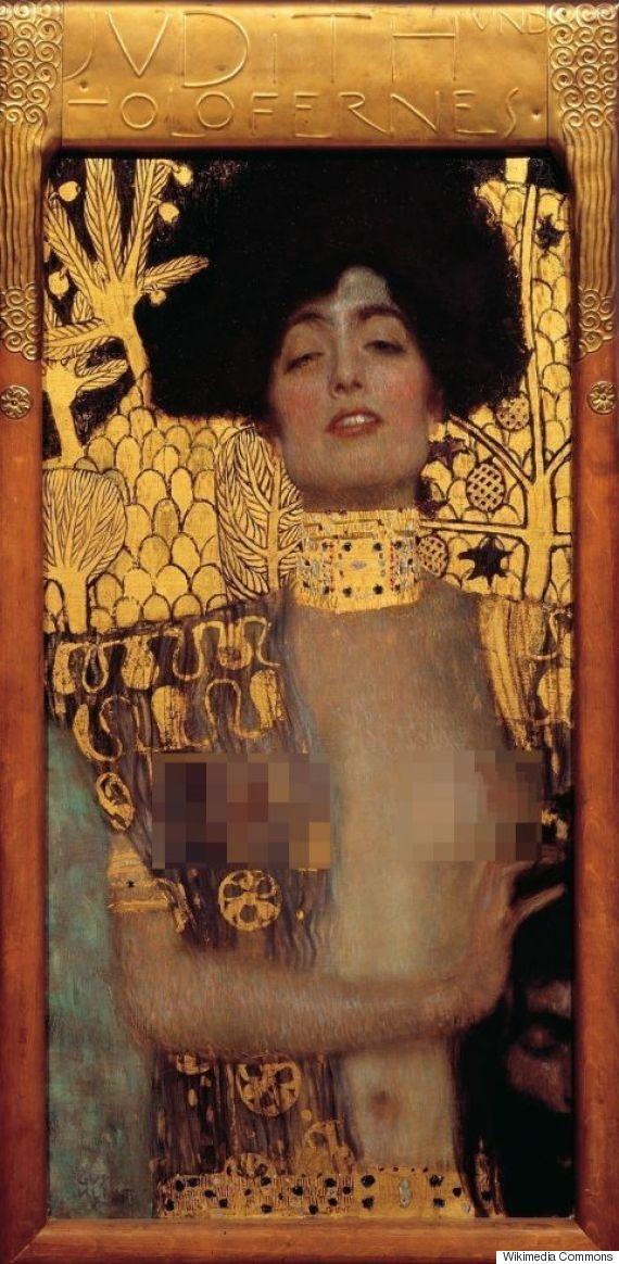 CENSURA Gustav Klimt, Judith and the Head of Holofernes