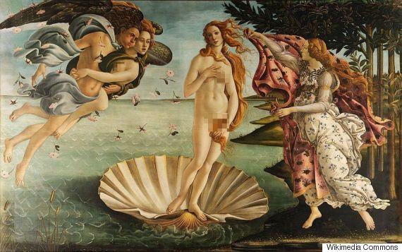 CENSURA Sandro Botticelli, The Birth of Venus