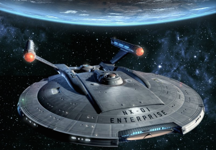 Aspecto de la nave Enterprise, de la serie Star Trek