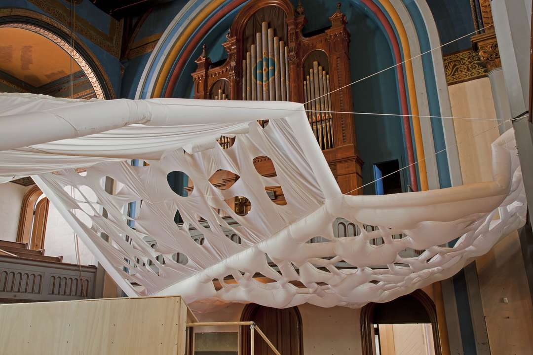 INFLABLES Newport Congregational Church- Soft Interventions by RISD Interior Architecture, Newport, R.I. 01