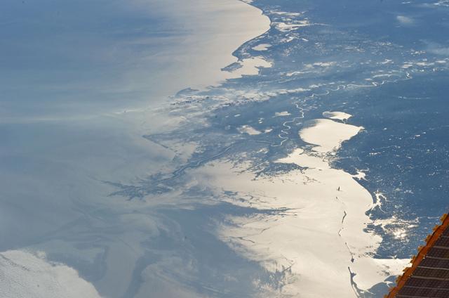 NASA-derrame perolero en Golfo de México