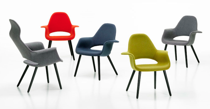 Senado Organic Chair, con diseño de Charles Eames & Eero Saarinen, en tela Hospak
