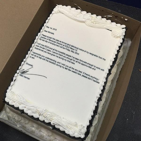 Una rebanada de pastel?: el hombre que renunció creativamente