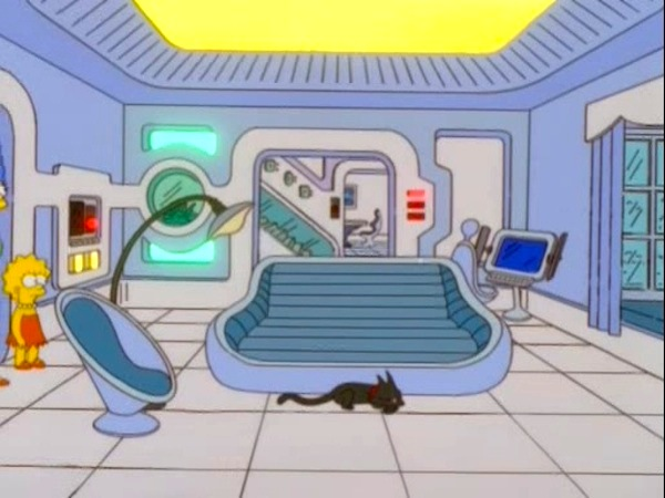 Versión de Los Simpsons de una casa automatizada