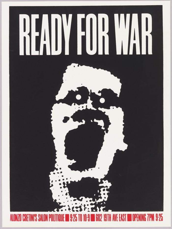 """cartel 09 Art Chantry, """"Ready for War"""" (1982)"""