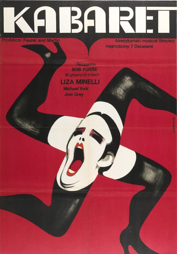 """cartel 10 Wiktor Górka, """"Kabaret (Cabaret)"""" (1973)"""