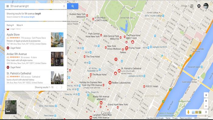 5ª avenida, Nueva York. Google Maps.