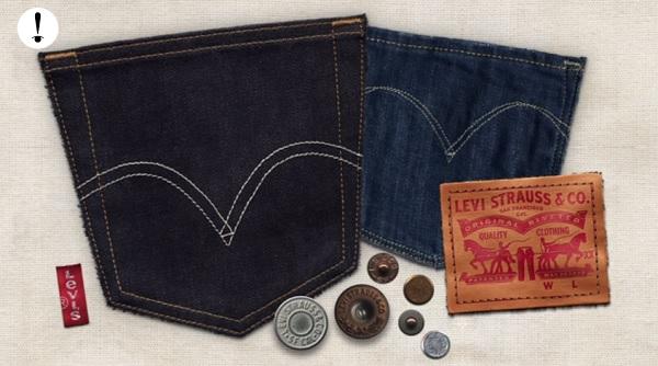Iconos del diseño de los jeans.