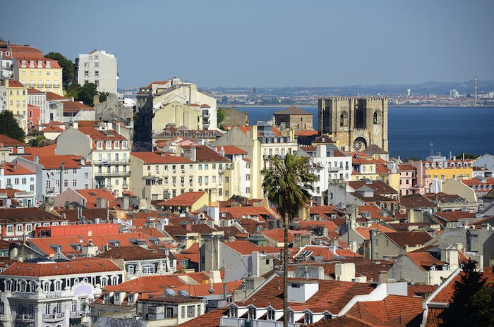Rio Tajo en Lisboa, Portugal.