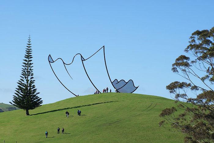 FOTO Escultura en Nueva Zelanda