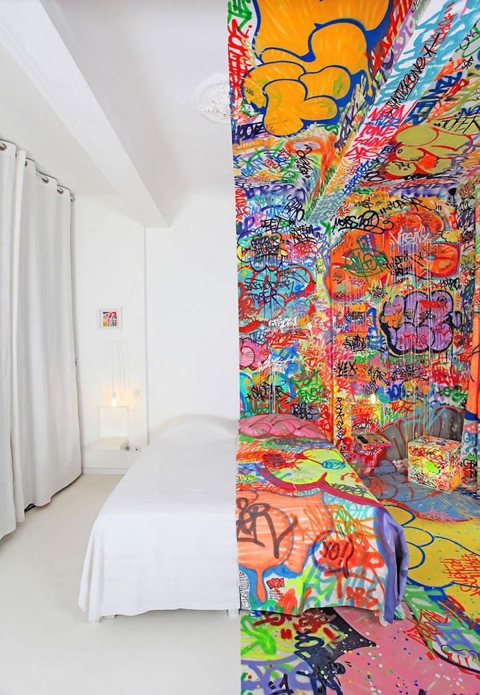 FOTO Habitación medio graffiti, Marsella